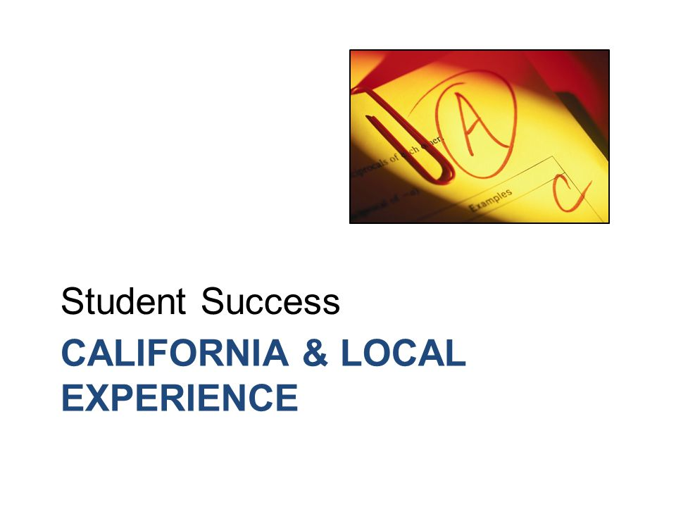 Student Success A Community College Priority Examples of successful strategies: Assessment & placement Assessment & placement Student advising Student advising Orientation sessions Orientation sessions Student engagement Student engagement Learning communities Learning communities Tutoring Tutoring Personal development courses Personal development courses Course alignment Course alignment Students don't do optional…
