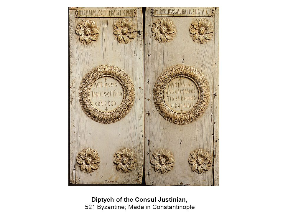 Diptych of the Consul Justinian, 521 Byzantine; Made in Constantinople