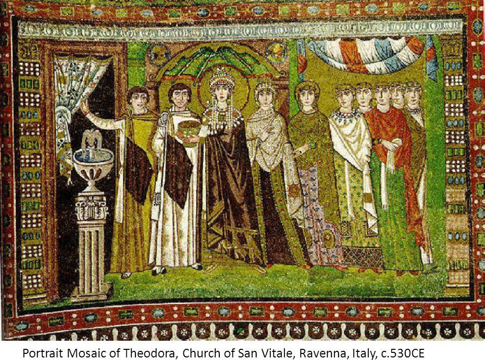 Portrait Mosaic of Theodora, Church of San Vitale, Ravenna, Italy, c.530CE