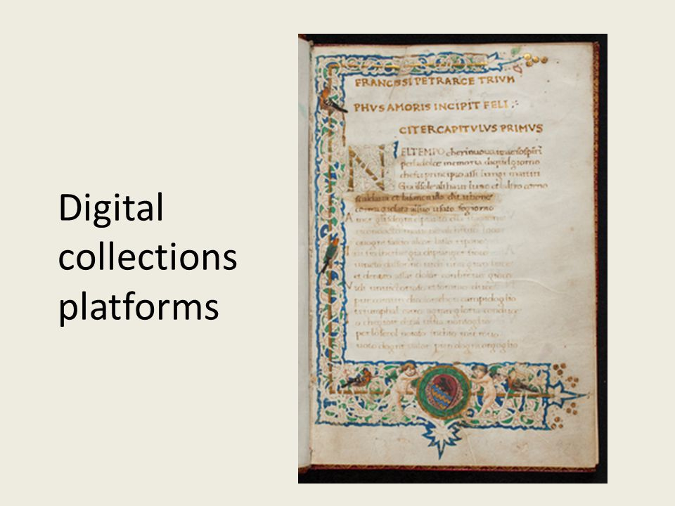 Digital collections platforms