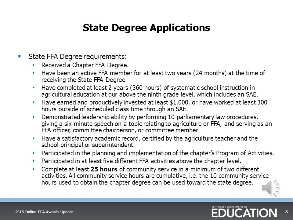 State Degree Applications  Uses the new American degree factor for unpaid hours of 3.56  Has automatic checks throughout  Has a manual review sheet