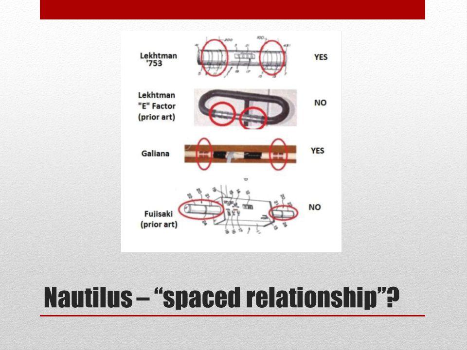 Nautilus – spaced relationship ?