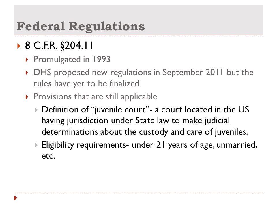 Federal Regulations  8 C.F.R.