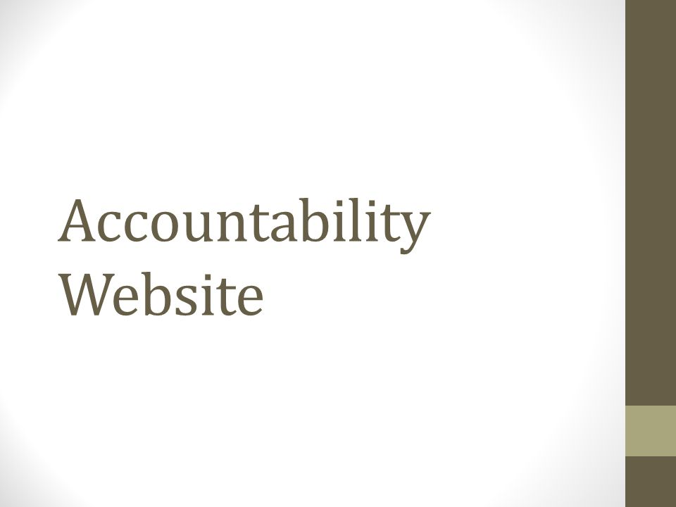 Accountability Website
