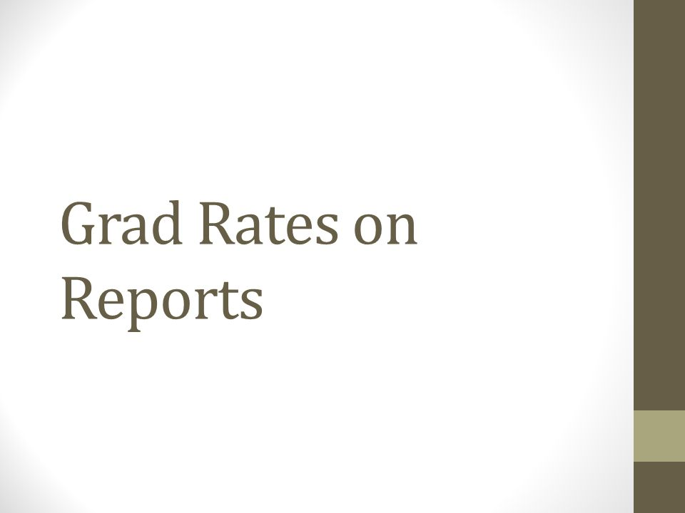 Grad Rates on Reports
