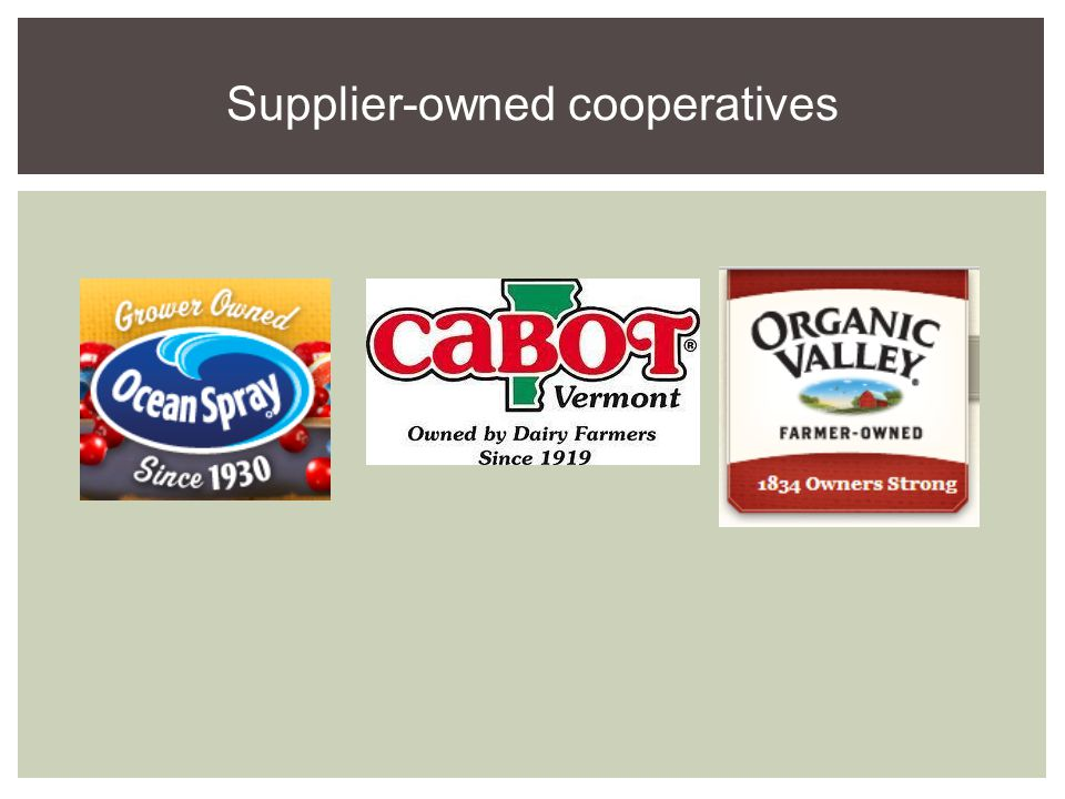 Supplier-owned cooperatives