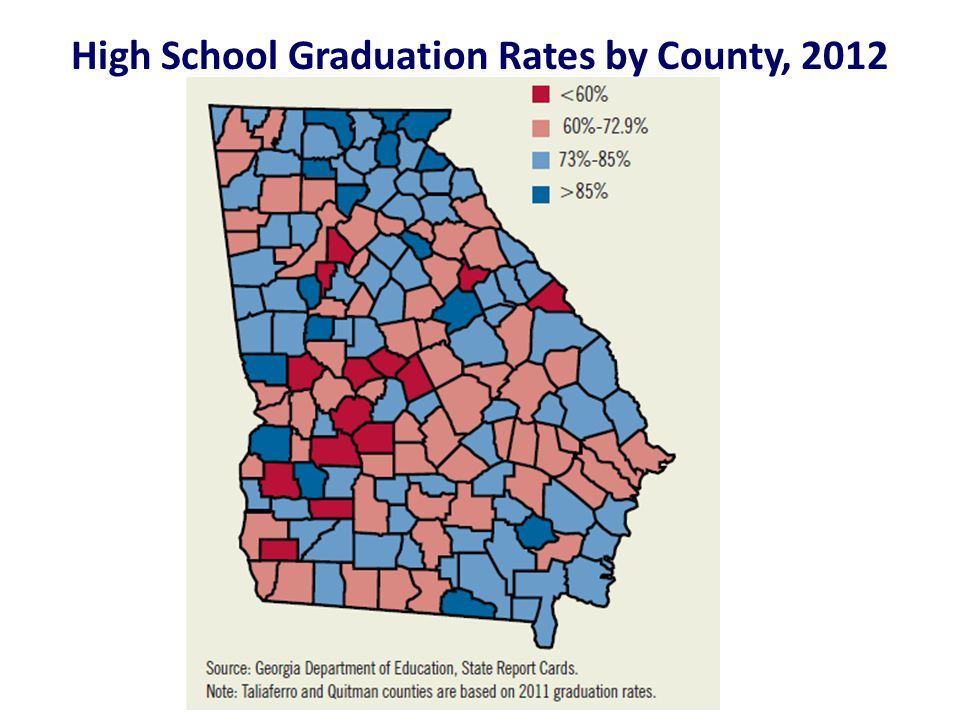 High School Graduation Rates by County, 2012
