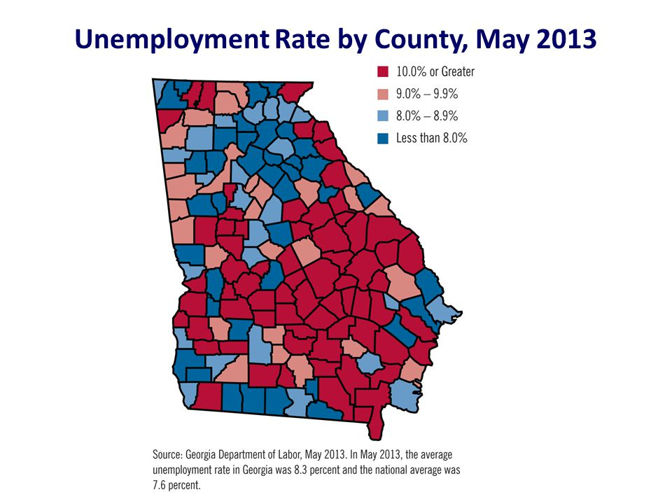 Unemployment Rate by County, May 2013