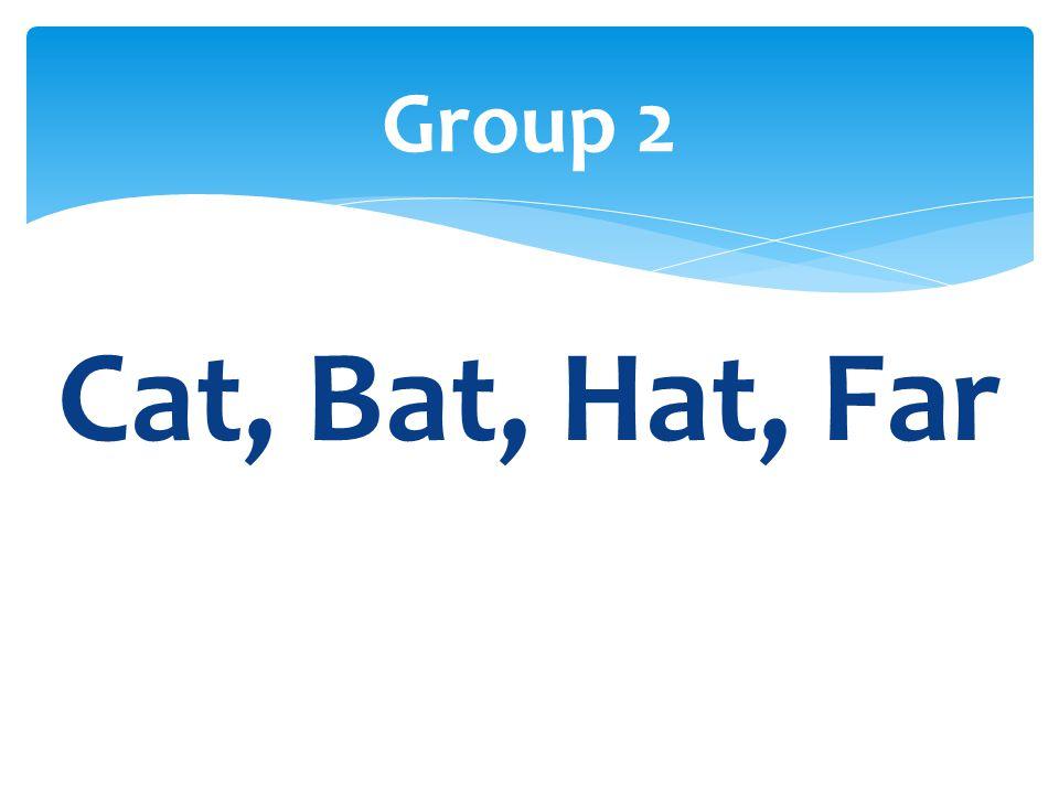 Cat, Bat, Hat, Far Group 2