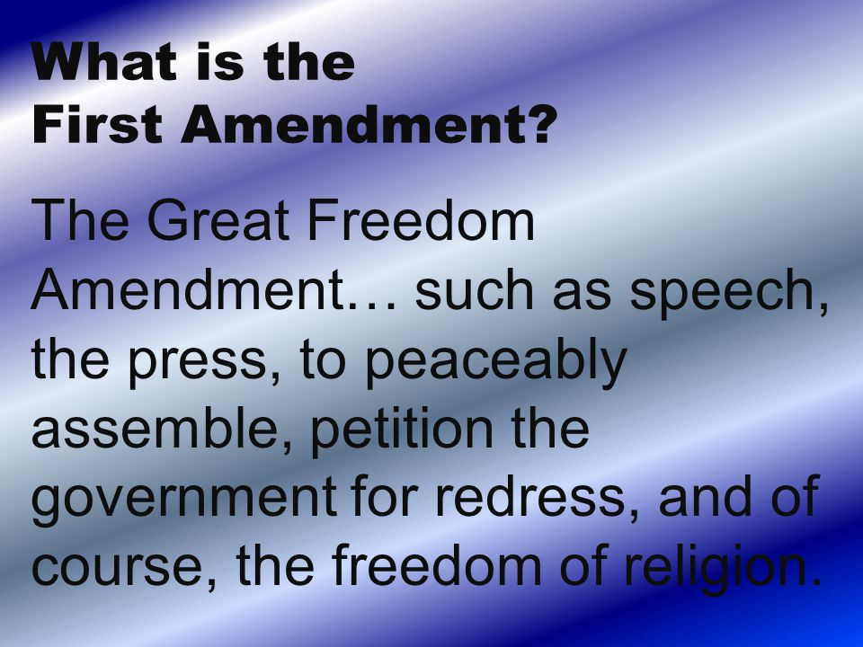 What's the Fifth Amendment?