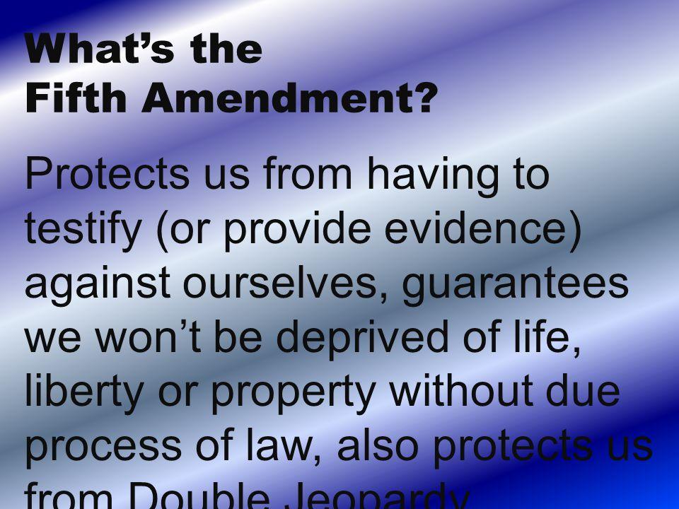 What is the Ninth Amendment?