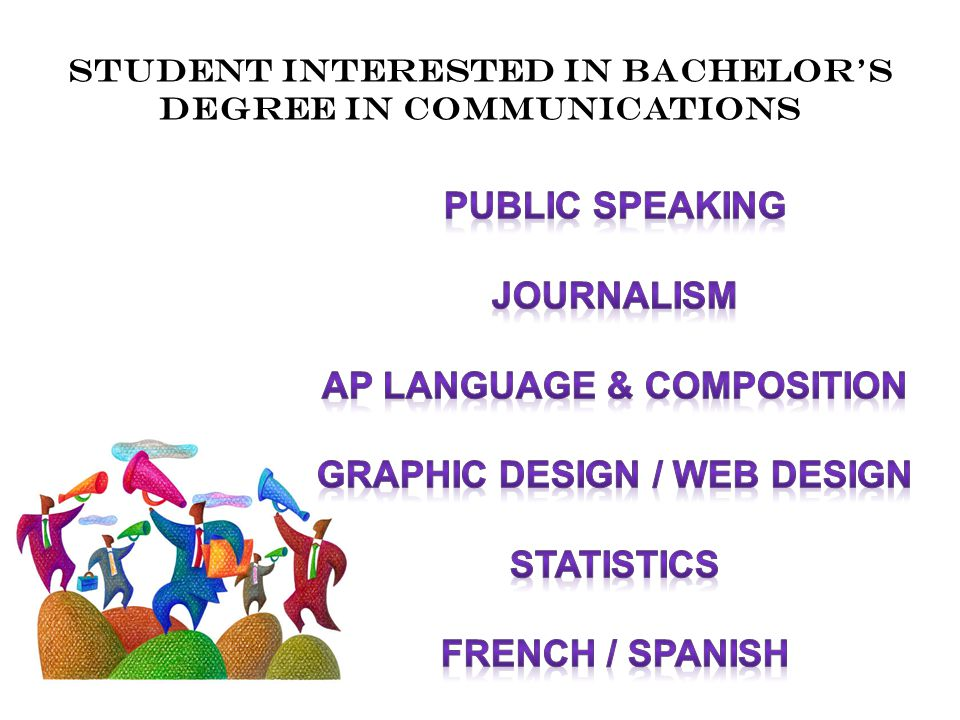 Student interested in bachelor's degree in communications
