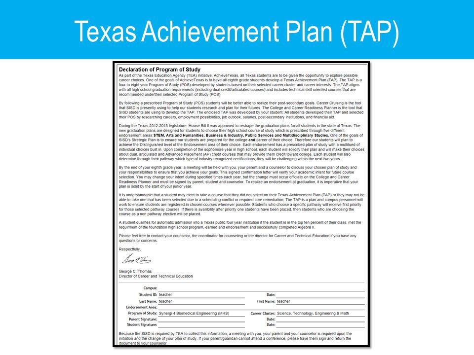 Texas Achievement Plan (TAP)