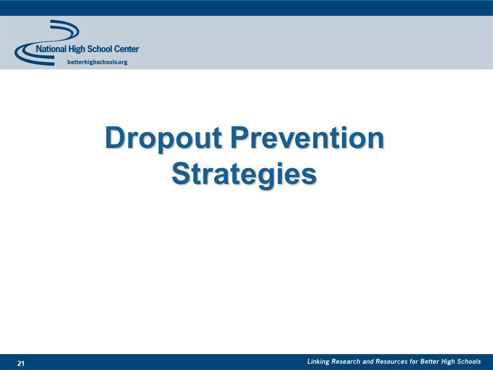 21 Dropout Prevention Strategies