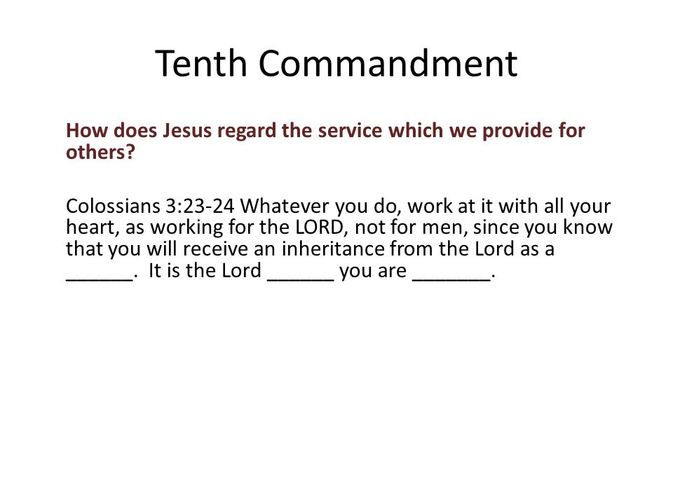 How does Jesus regard the service which we provide for others.