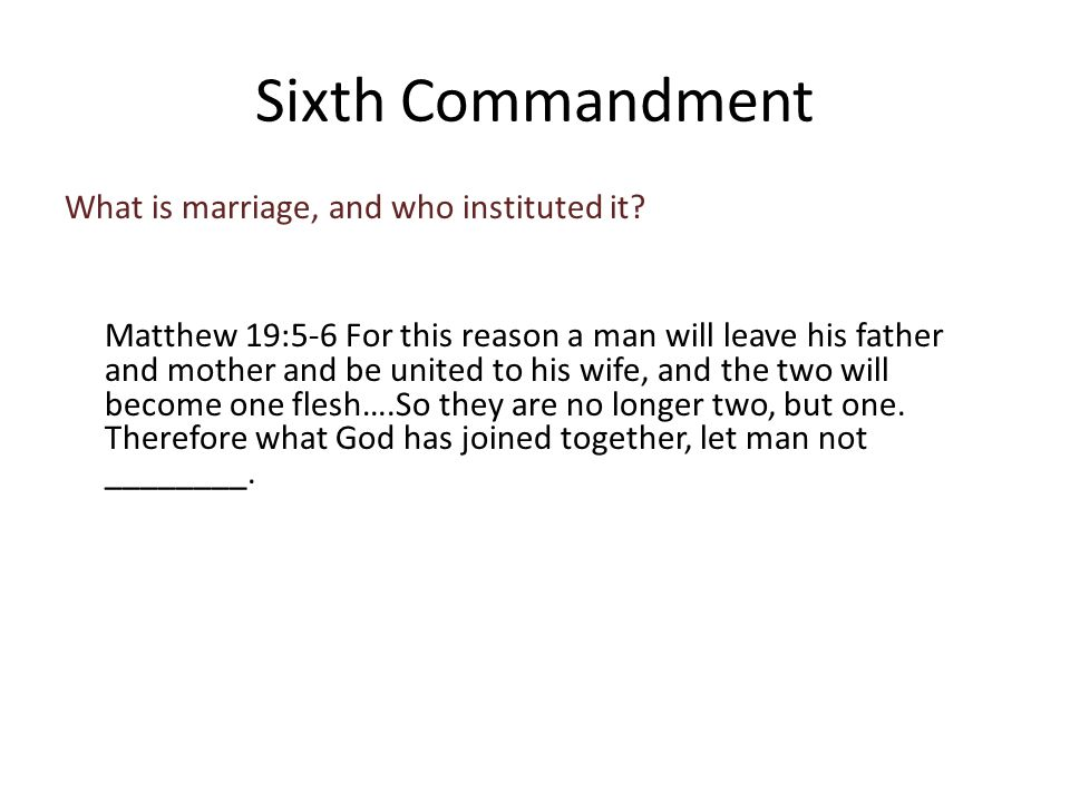 What is marriage, and who instituted it.
