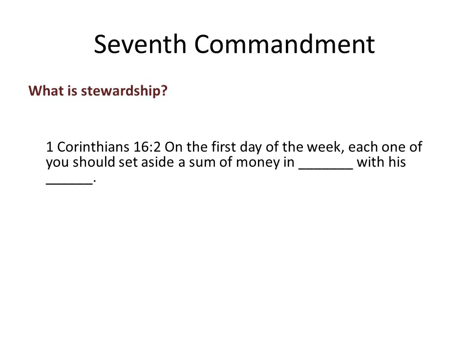 What is stewardship.