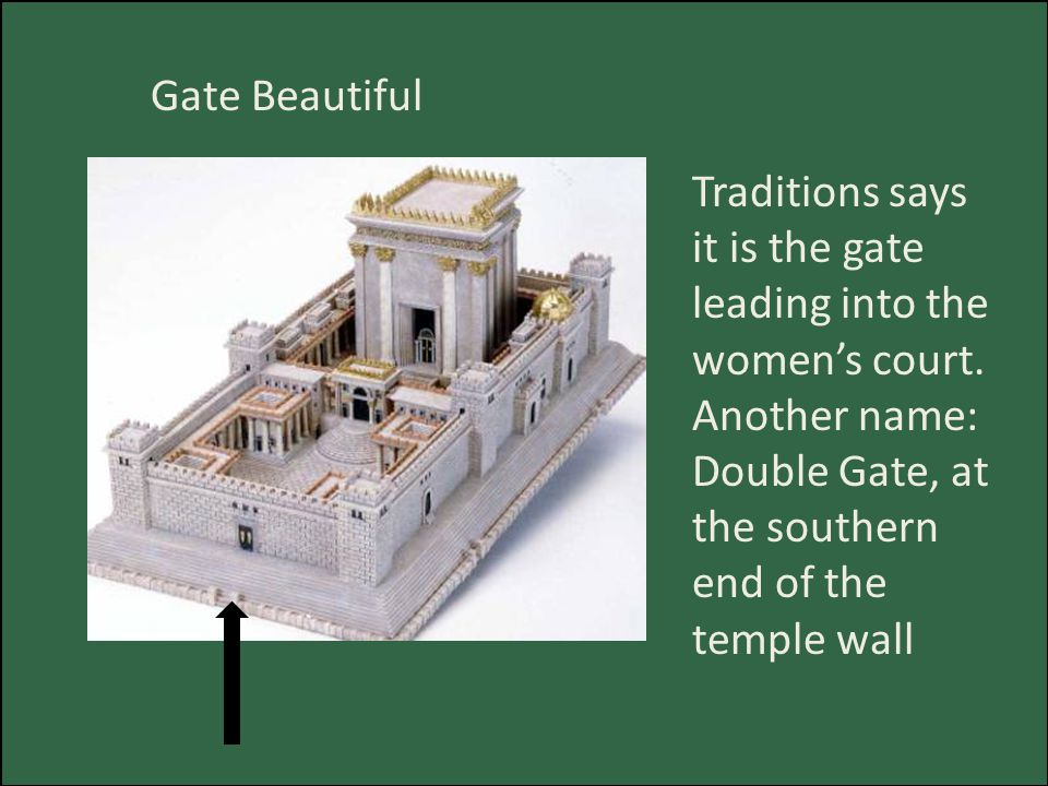 Gate Beautiful Traditions says it is the gate leading into the women's court.