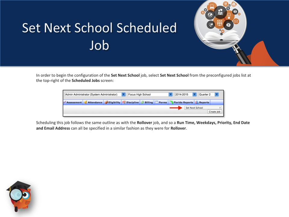 Set Next School Scheduled Job