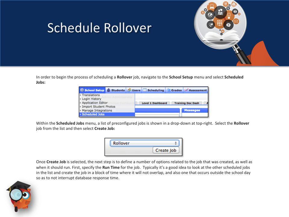Schedule Rollover