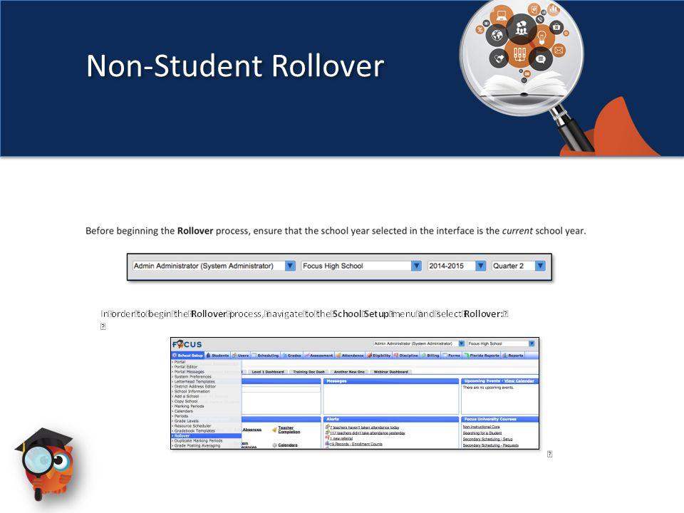 Non-Student Rollover