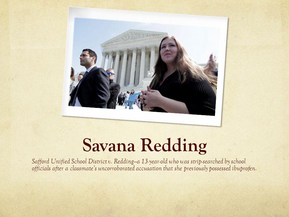 Savana Redding Safford Unified School District v.
