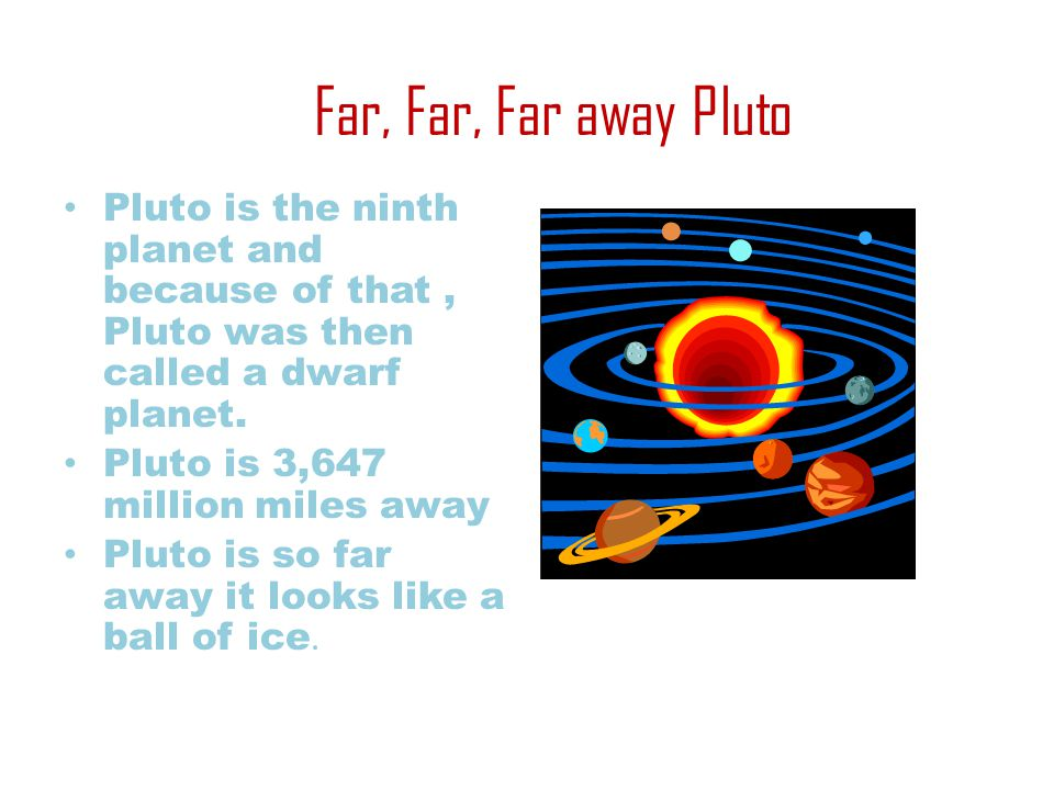 Temperature On Pluto Pluto's temperature is between -369°c and 387°f Pluto is the farthest dwarf planet Pluto is a giant snowball of methane and water mixed with rock.