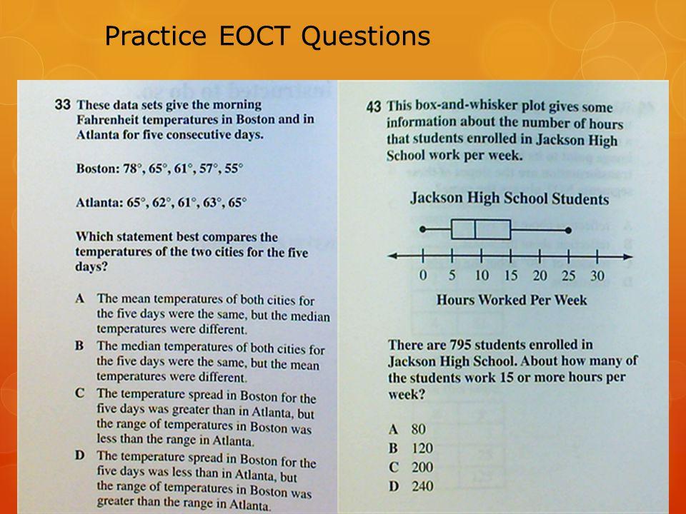 Practice EOCT Questions