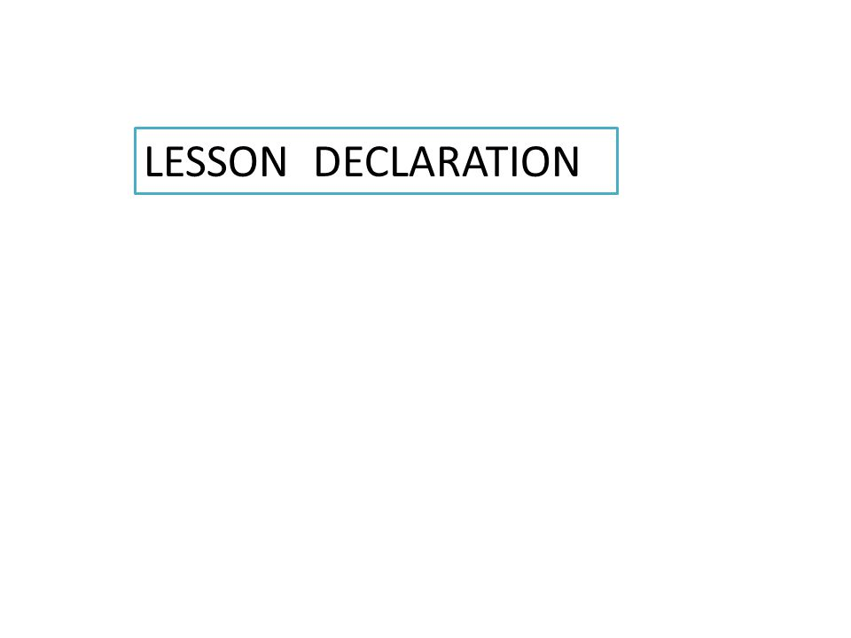Lesson related pictures