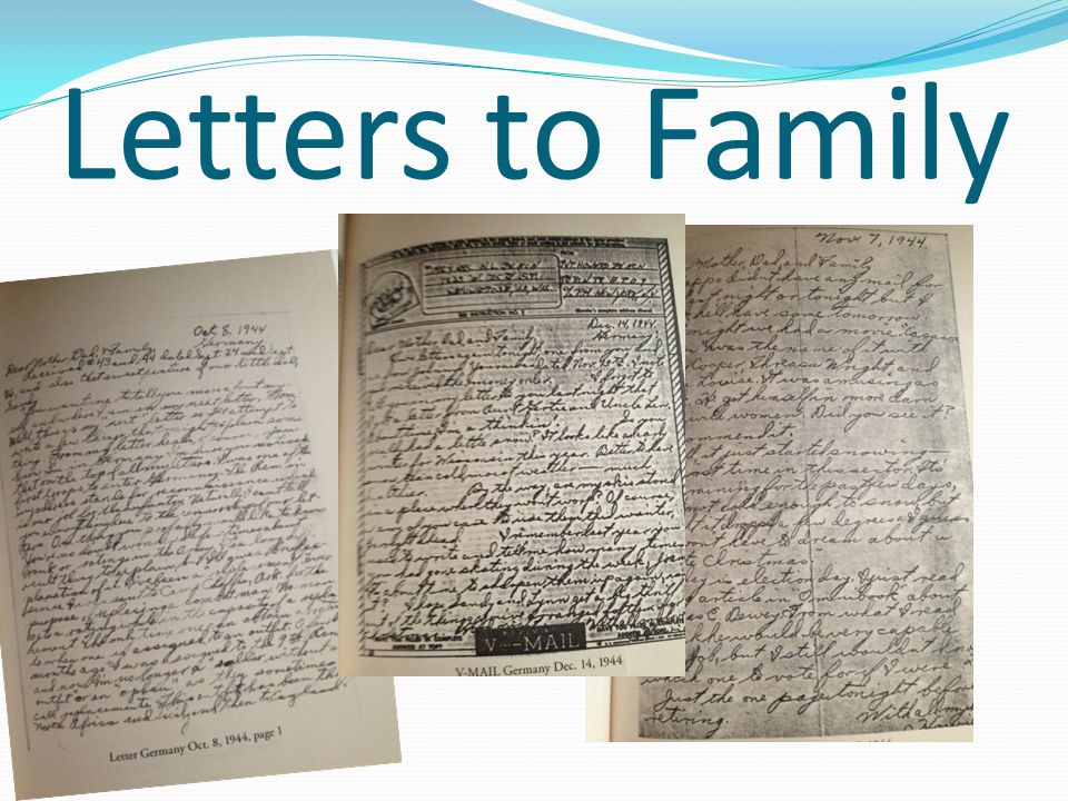 Letters to Family
