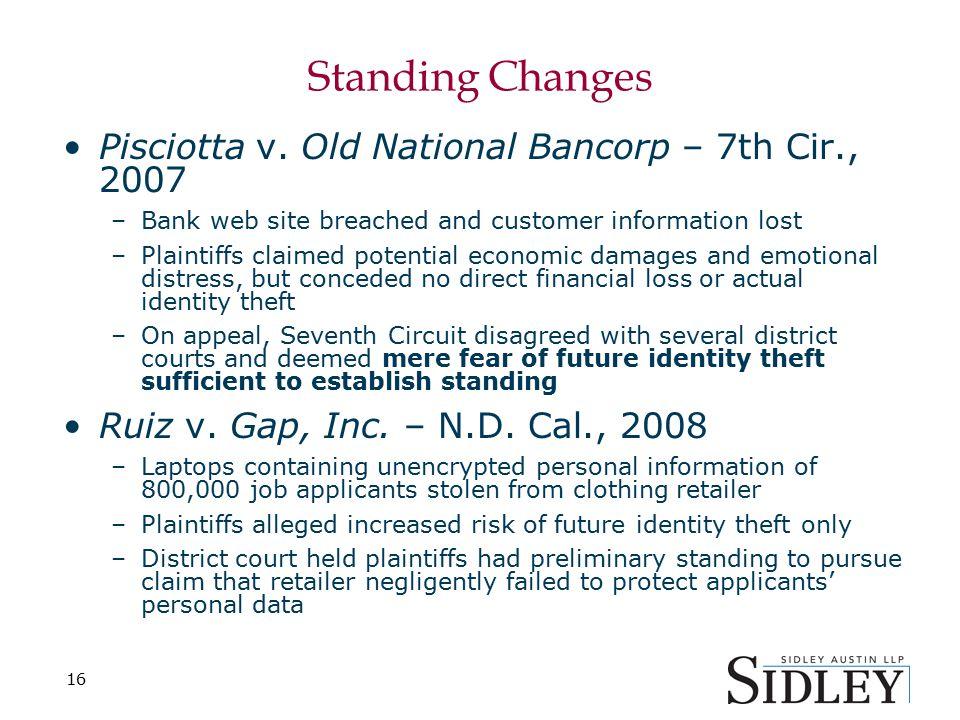 16 Standing Changes Pisciotta v.