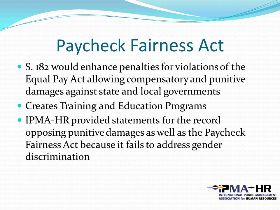 Paycheck Fairness Act S.