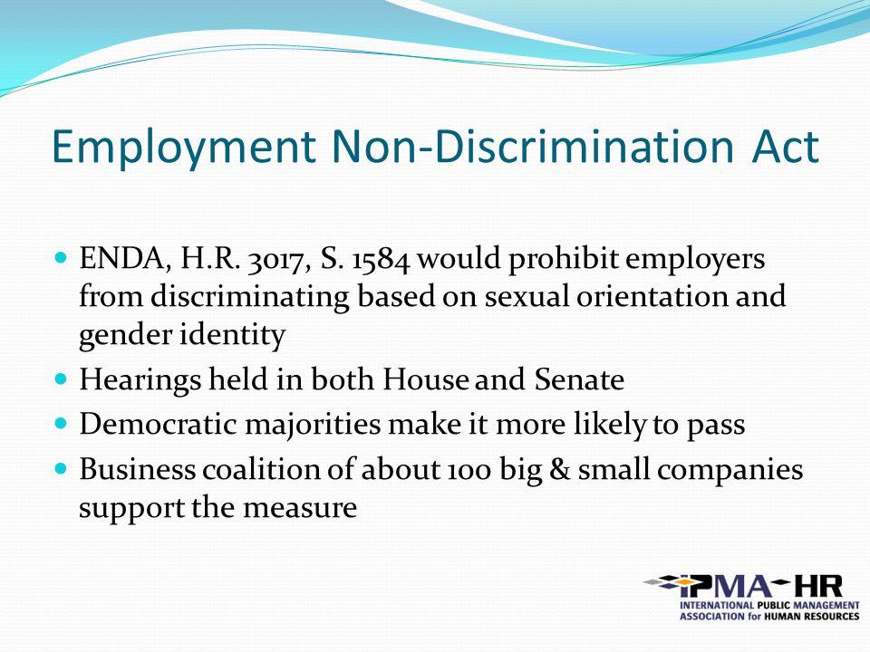 Employment Non-Discrimination Act ENDA, H.R. 3017, S.