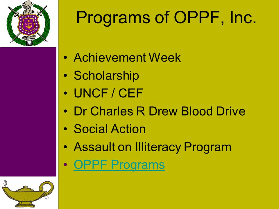 © Programs of OPPF, Inc.