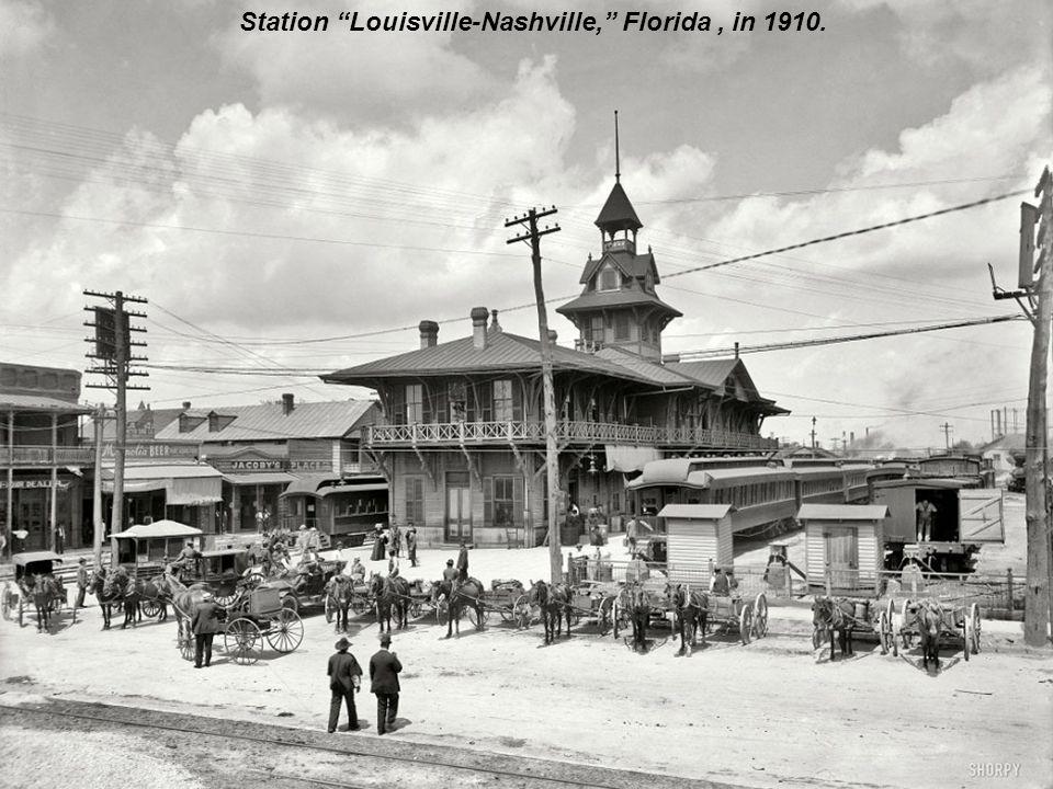 The main street of Memphis, north of Avenue Gayoso, 1910.