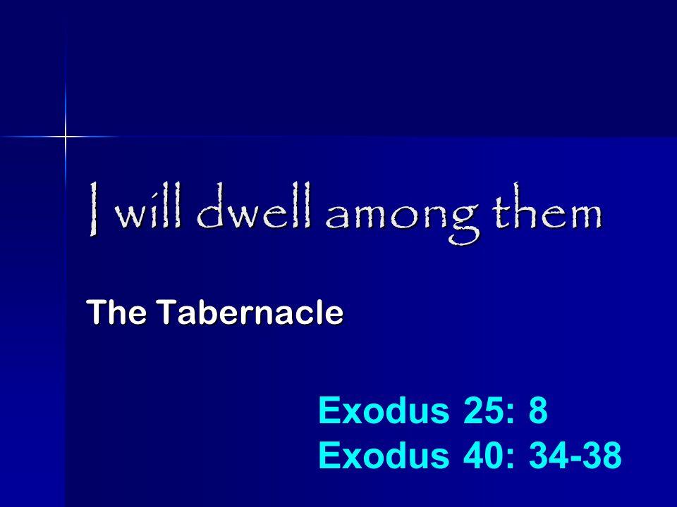 I will dwell among them King David - Jerusalem II Samuel 5: 6-10 II Samuel 6: 1-2, 17