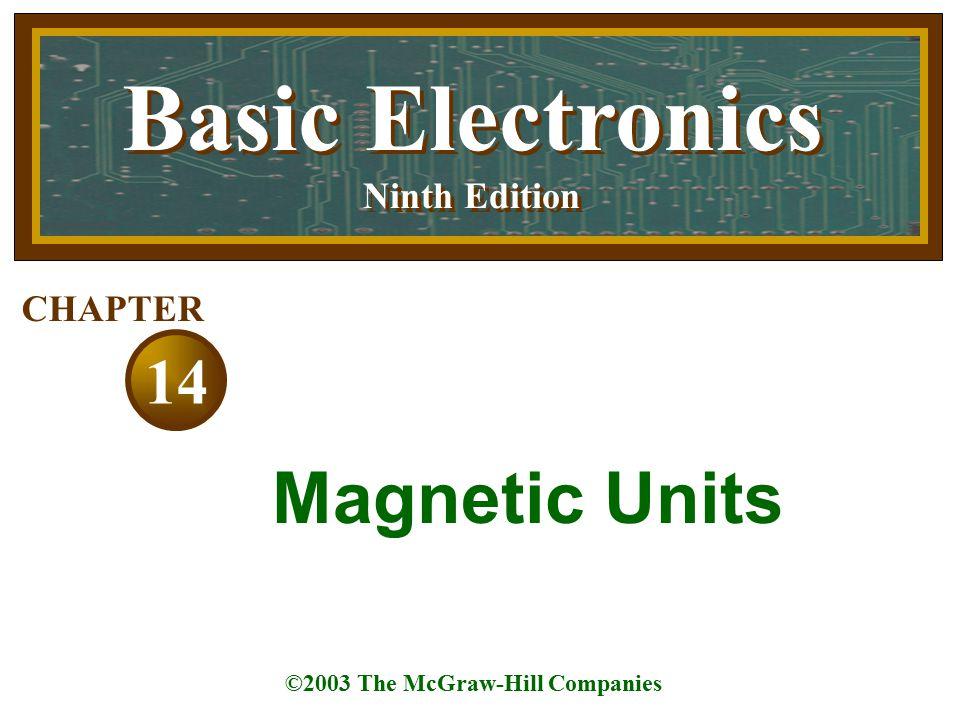 Basic Electronics Ninth Edition Basic Electronics Ninth Edition ©2003 The McGraw-Hill Companies 14 CHAPTER Magnetic Units