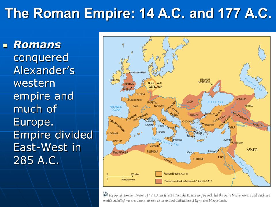The Roman Empire: 14 A.C. and 177 A.C.
