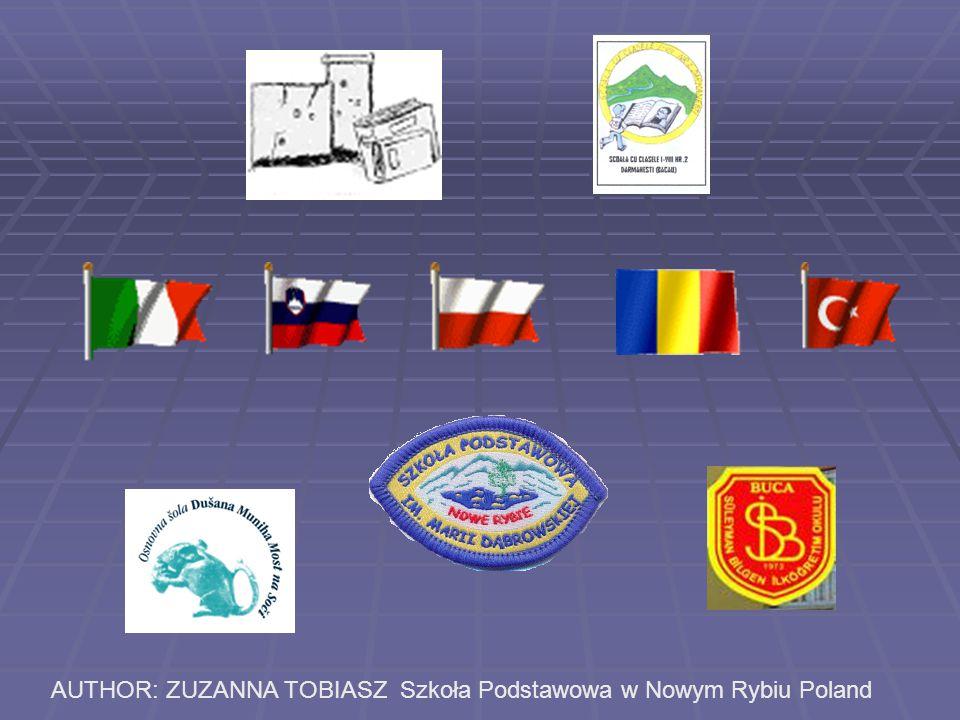 AUTHOR: ZUZANNA TOBIASZ Szkoła Podstawowa w Nowym Rybiu Poland