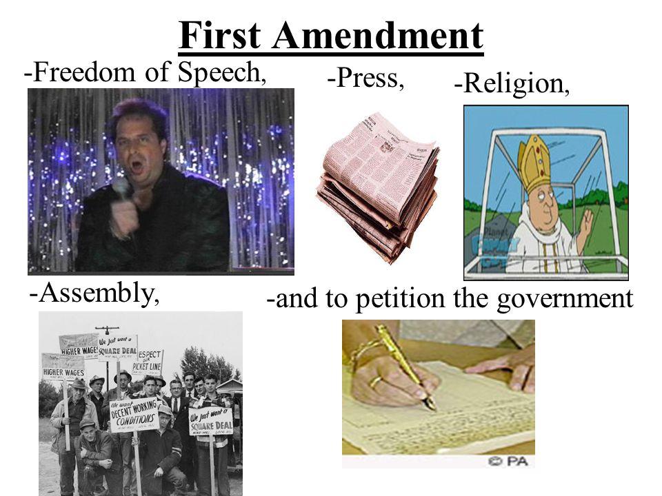 Second Amendment -Right to keep and bear arms (own a gun)