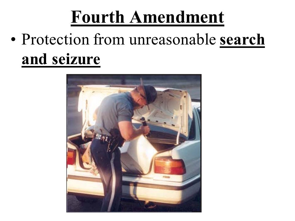 Fourth Amendment Protection from unreasonable search and seizure