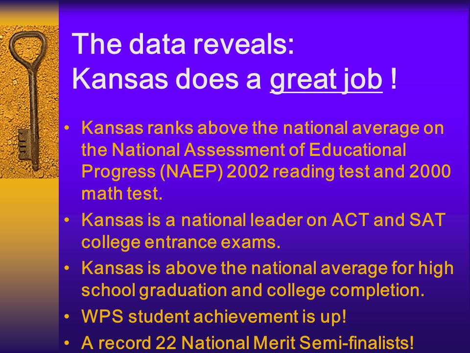 The data further reveals: Kansas' standing is in jeopardy.