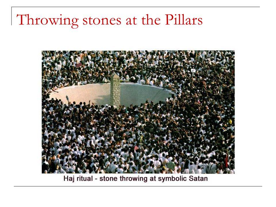 Throwing stones at the Pillars