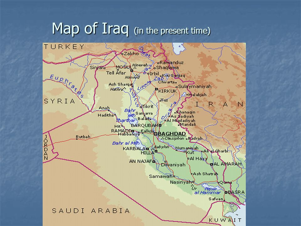Map of Iraq (in the present time)