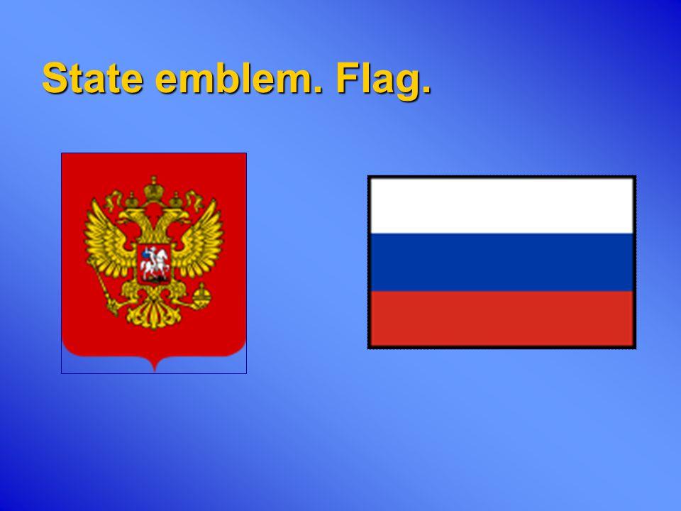 State emblem. Flag.
