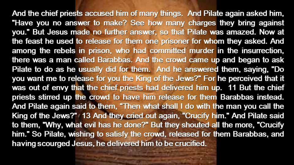 Before Pilate, Jesus says He is the KING...