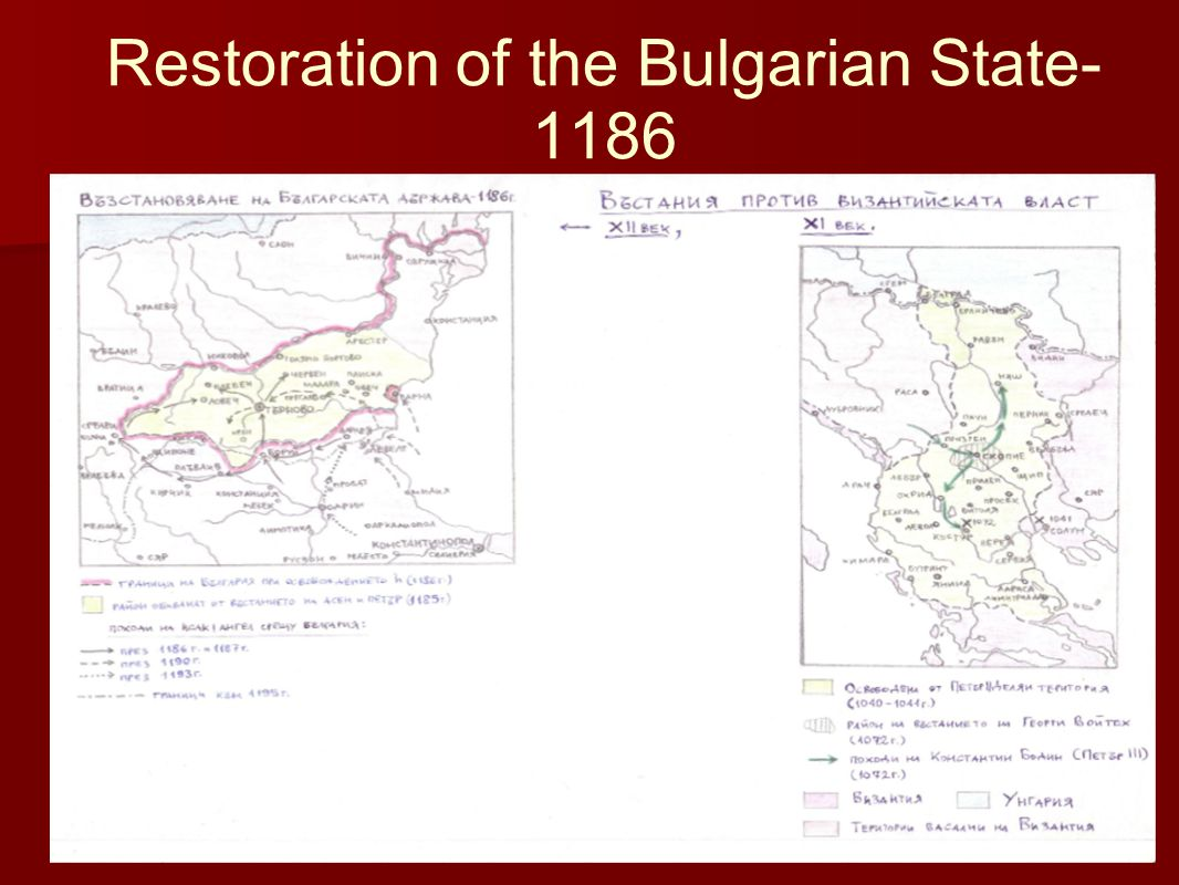 Restoration of the Bulgarian State- 1186