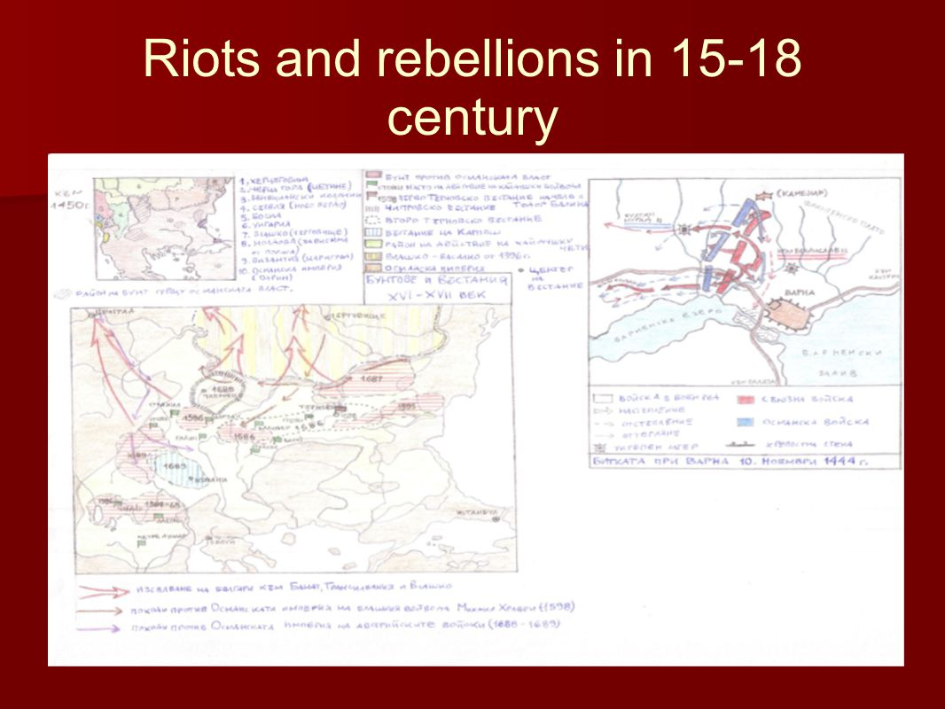 Riots and rebellions in 15-18 century