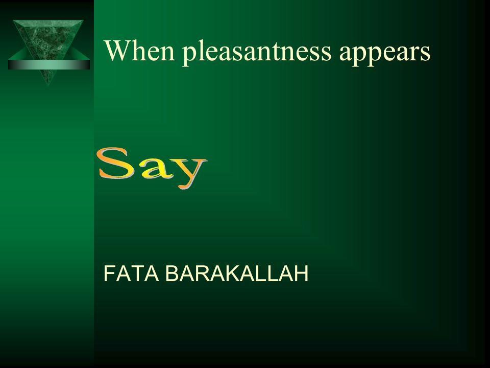 NA UZO BILLAH When unpleasantness occurs