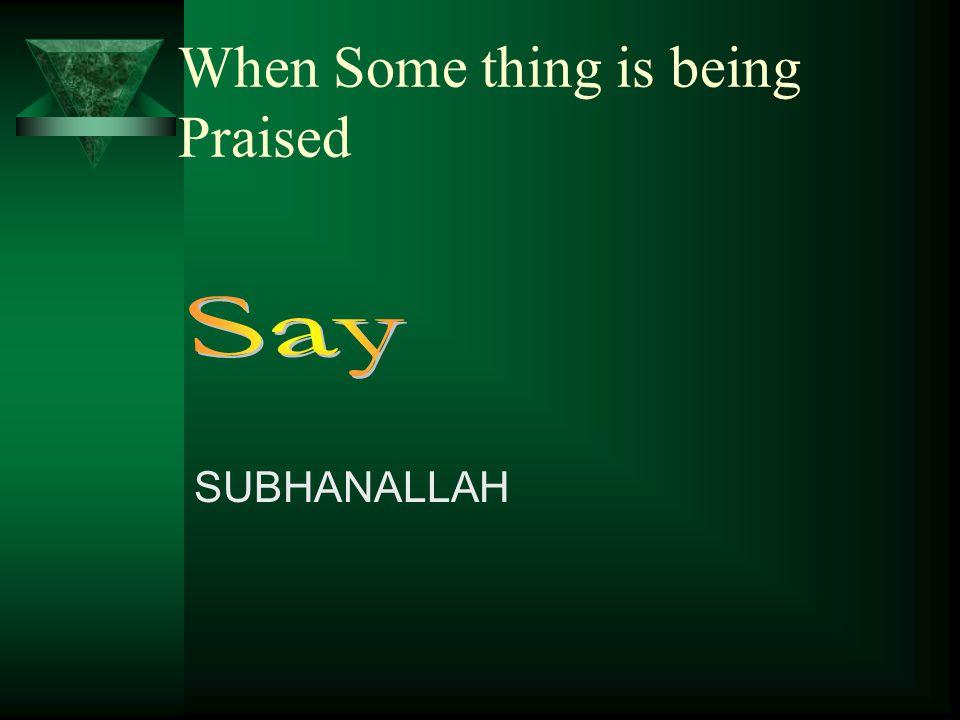 When Intending to do something INSHA ALLAH